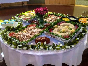 Catering Table Setup