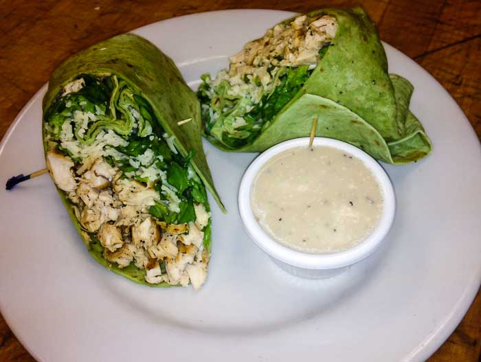 Sandwich Chicken Caeser Wrap Cropped